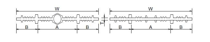 两种典型止水带断面结构示意图
